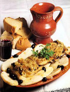 Bacalhau à Margarida da Praça - Gastronomia de Portugal (Entre Douro e Minho)