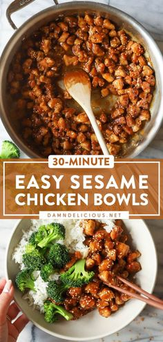 45 reviews · 30 minutes · Gluten free · Serves 4 · Find yourself making this Asian-inspired recipe all week! Crispy on the outside while being tender inside, these saucy Sesame Chicken Bowls are so much better than takeout. Plus, this easy dinner… Healthy Dinner Recipes, Cooking Recipes, Main Meal Recipes, Delicious Chicken Recipes, Good Recipes, Recipes With Chicken, Best Dinner Recipes Ever, Healthy Asian Recipes, Asian Dinner Recipes