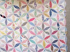 Vintage Antique Handmade Quilt Kaleidoscope or Star Flower Geometric 1920s | eBay