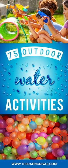 75 super fun water games activities for kids for summer! Sports Day Activities, Sports Games For Kids, Activities For Adults, Summer Activities For Kids, Outdoor Water Activities, Water Games For Kids, Summer Camps For Kids, Kid Summer, Summer Time