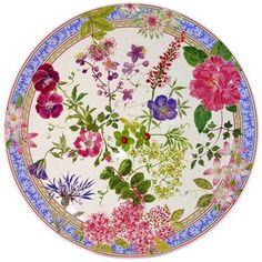 Gien France Mille Fleur Cake Platter