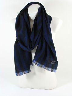 FRAAS Herrenschal Damenschal blau/schwarz gestreift Herbst Winter Geschenk Schal