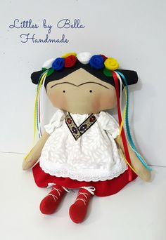 Frida Kahlo doll Tilda children tilda doll cute doll gift to girls small dolls happy doll unique doll littles by Bella dolls Ukranian doll