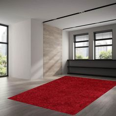 Get that with our Red Rug. Red Rugs, Uni, Living Spaces, Contemporary, Red Color, Bedroom Ideas, Easy, Design, Home Decor