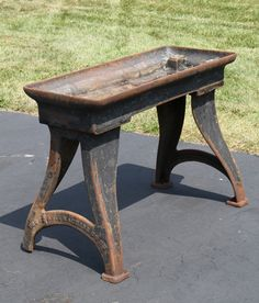 Vintage Cast Iron Metal Lathe Legs Antique Steampunk 1800's Table Leg Nice!