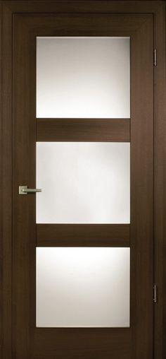 Etched glass inset Door