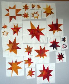 Claudias Blog - extreme wonky / wacky stars quilt blocks