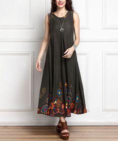 Olive Garden Swing Midi Dress - Plus #zulily #zulilyfinds