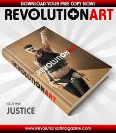 "Get a FREE EDITION of REVOLUTIONART #46 ""JUSTICE"" here: http://www.revolutionartmagazine.com #creativity #color #design #graphicdesign #models #art #pdf #revolutionart #ebook #cover #editorial #photoshop #illustrator #advertisement #graphics"