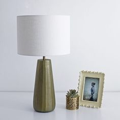 Gold Table Lamp with Ivory Linen Shade