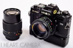 Get busy with this Minolta X700 kit Feat 50mm 135 by Iheartcamera, $159.00