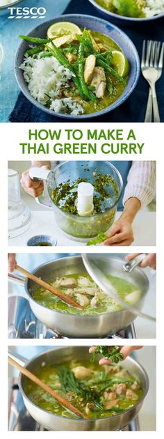 Swap out the takeaway for this creamy Thai green curry recipe packed with succulent chicken and gorgeous aromatic flavours Tesco Thai Green Chicken Curry, Green Curry Sauce, Recipe For Thai Green Curry, Healthy Thai Green Curry, Green Thai, Green Curry Recipes Vegetarian, Thai Curry Recipes, Vegetarian Thai Green Curry, Sauces