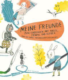 Meine Freunde - zum Eintragen mit Pinsel, Stempel, Kleber - Hardcover | CARLSEN Verlag
