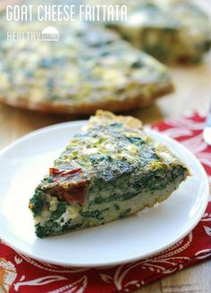 Goat cheese frittata - a delicious, pretty, very filling frittata that I love having for breakfast, for lunch or as a quick snack.