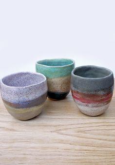 One-of-a-kind Shino Takeda Tea Cups