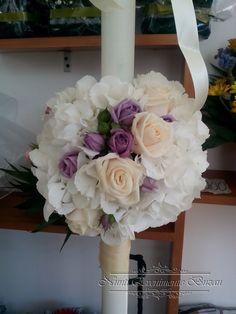 lumanare botez din ceara naturala - Căutare Google Floral Wreath, Wreaths, Google, Wedding, Home Decor, Valentines Day Weddings, Floral Crown, Decoration Home, Door Wreaths
