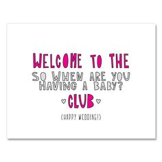 Welcome To The Club A2 folded note card & by nearmoderndisaster