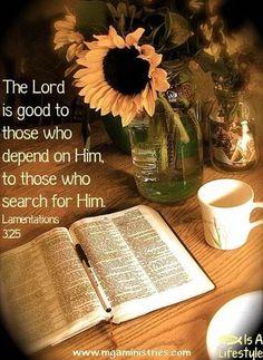 Lamentations 3:25 facebook.com/donttakethemark