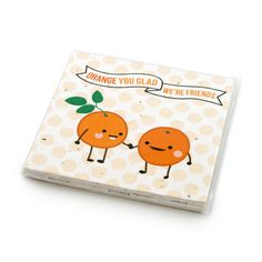 Fruit Friends Plantable Cards Set - Each card is printed on seed paper embedded with North American wildflower seeds. The lucky recipient can save the card and plant it in the garden to grow a bouquet of wildflowers. Even the cello bag is compostable, so this product leaves only beauty and no waste!