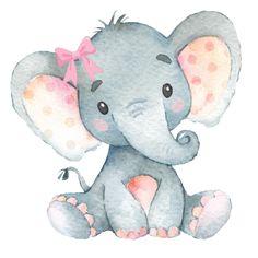 Shop Pink Floral Rose Elephant Baby Girl Nursery Fleece Blanket created by BlueBunnyStudio. Baby Elephant Drawing, Cute Elephant Cartoon, Baby Elephant Nursery, Girl Nursery, Baby Elephants, Pink Elephant, Nursery Drawings, Nursery Paintings, Nursery Prints