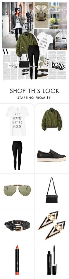 """""""YoIns Bomber Jacket"""" by katarinamm ❤ liked on Polyvore featuring Zoe Karssen, Ray-Ban, Bobbi Brown Cosmetics, Marc Jacobs, Thomsen Paris, Lonely Planet, vintage and yoins"""