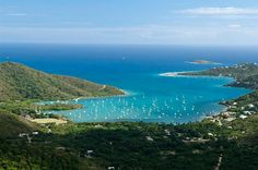 St. John U.S Virgin Islands, this is almost the exact view we had from our house too.  One of my favorite vacations