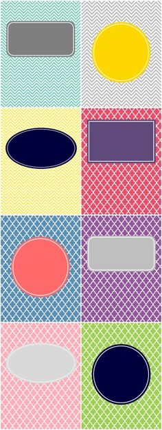 Printable binder covers - resize for journaling cards.