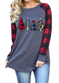 Zimaes-Women Hood Printing Winter Christmas Tshirt Sweatshirt