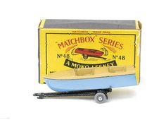 48-A 	Meteor Sports Boat & Trailer Sport Boats, Boat Trailer, Matchbox Cars, My Youth, Train Set, Sports, Hs Sports, Sport