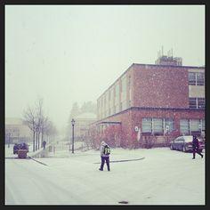 Spring snowfall in Alfred #alfredu