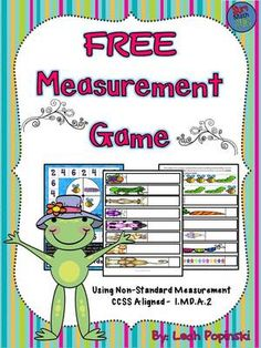 FREE Measurement Game for First Grade from LeahPopinski-SumMathFun on TeachersNotebook.com -  (7 pages)  - FREE Measurement Game for First Grade. Non-Standard Measurement Using Adorable Insect Graphics! CCSS Aligned - 1.MD.A.2