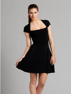 GUESS by Marciano Lexann Full-Skirt Dress, BLACK (SMALL) $178.00