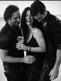 Josh Holloway, Evangeline Lilly and Matthew Fox. Ugh...Kate. Such a tease.