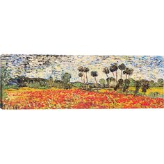 iCanvas 'Field of Poppies' by Vincent van Gogh Painting Print on Wrapped Canvas | AllModern
