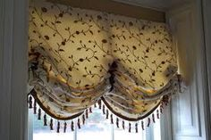 Balloon Valance embellished with Tassel Fringe.  Boutique Home Chicago
