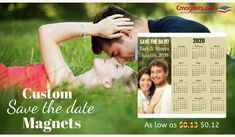 Add a personal touch to your event announcement! Magnetic Calendar, Print Calendar, Save The Date Magnets, First Order, Wedding Announcements, Brand Packaging, Round Corner, Big Day, Weddingideas