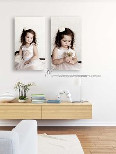 portrait wall art. Children's photography, kids photos, little girl, canvas hanging. Photography by: Jade Read Photography, Gold Coast, Qld