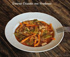Recetas de una Gatita Enamorada: Ternera Guisada con Verduras (Dieta)