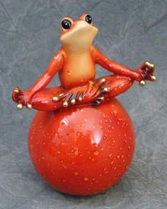 Meditating Frog on Ball