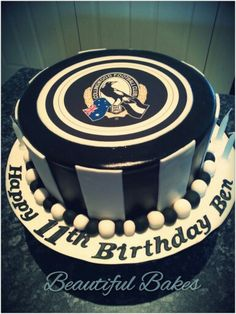 Collingwood football club cake
