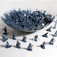 Make Your Own Melted Army Men Bowl