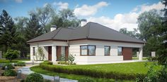 PROJECT DESCRIPTION is a comfortable one-story house with a spacious living area and four rooms with a subtle appearance. Filipino House, One Story Homes, Modern Bungalow, Ranch House Plans, Story House, Gazebo, Sweet Home, Outdoor Structures, Vacation