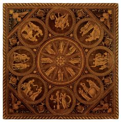 A NORTH ITALIAN WALNUT AND MARQUETRY PANEL SIGNED BY FRANCESCO ABBIATI, CIRCA 1780, ORIGINALLY A TABLE TOP