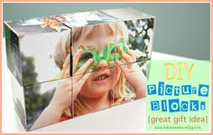 DIY Picture Blocks - Ask Anna - SUCH a cute gift idea, I think it would be good to put family pictures on for a kid