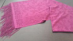 100% SPITZE+Fransen Schal Pashmina  Schleier Foulard Hijab Jawel Pink Gemustert