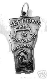 vermont state map usa sterling silver charm pendant Real Sterling silver 925 pendant Charm jewelry. $16.46, via Etsy.