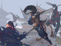 League of Legends - Yasuo and Zed, Song Nan Li Lol League Of Legends, Champions League Of Legends, League Of Legends Yasuo, League Of Legends Characters, Overwatch, Character Art, Character Design, Funny Games, Animes Wallpapers
