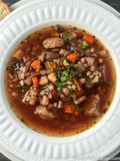 Beef and barley soup - warm, comforting and nutritious. Barley is a ...
