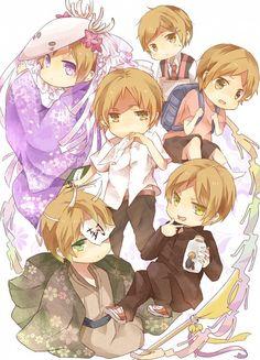 waaaah! chibi! cuteness overload!   Tags: Anime, Fanart, Natsume Yuujinchou, Pixiv, Natsume Takashi
