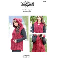 Hooded Vest in Cascade Magnum - B103